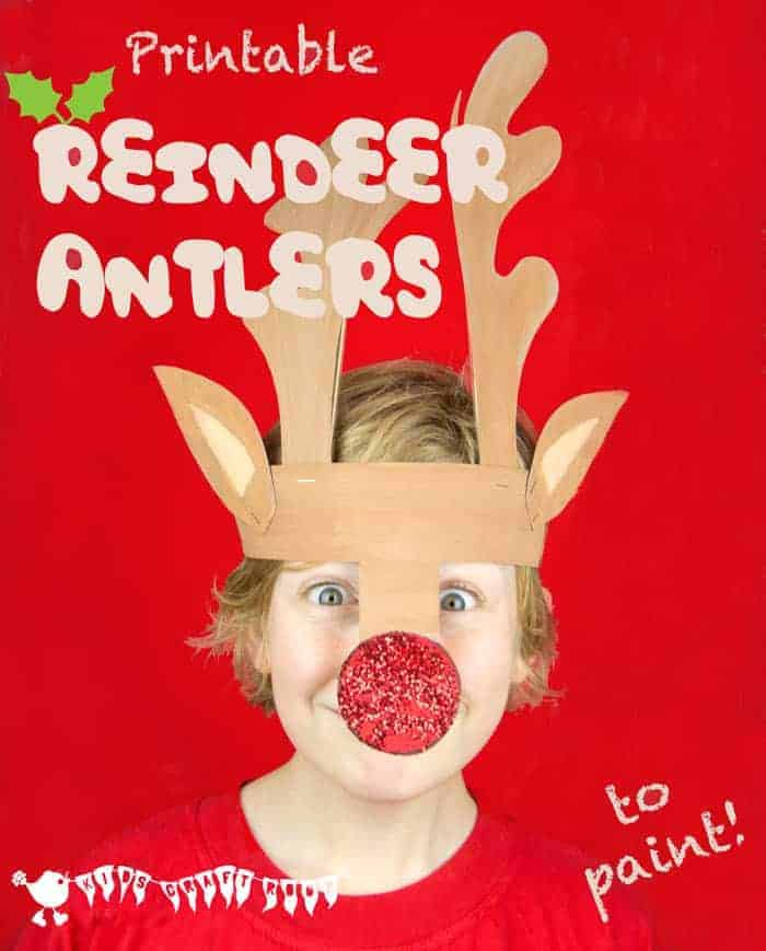 Printable Reindeer Antlers to Colour and Wear - Kids Craft Room