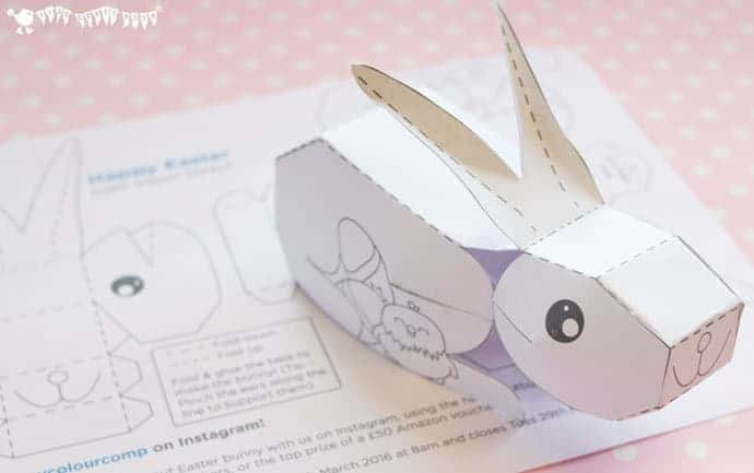 3D Easter Bunny Printable - Kids Craft Room