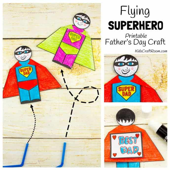 Flying Superhero Father\u0027s Day Craft - Kids Craft Room