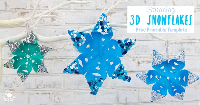 Stunning 3D Snowflake Craft - Kids Craft Room