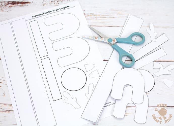 Printable Accordion Paper Reindeer Craft - Kids Craft Room