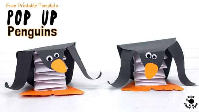 Pop Up Penguin Craft - Kids Craft Room - penguin template