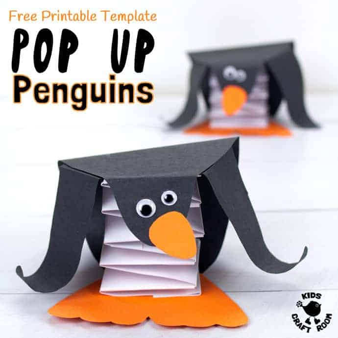 Free Printable Template Pop Up Penguin Craft - Kids Craft Room