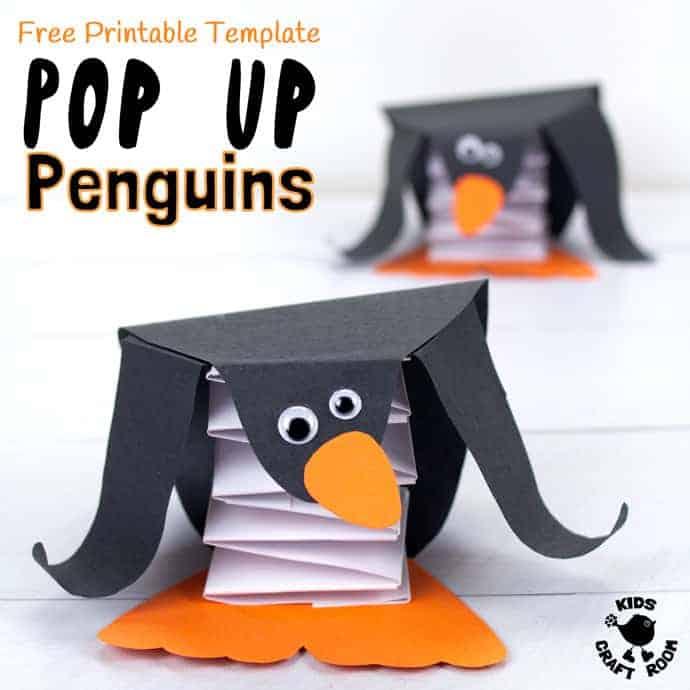 Free Printable Template Pop Up Penguin Craft - Kids Craft Room - penguin template