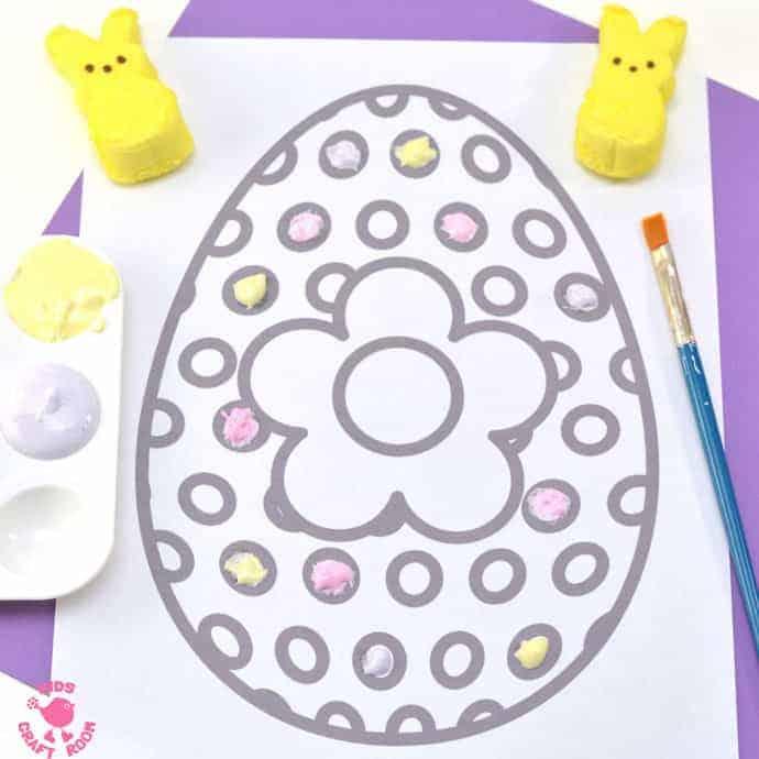Free Printable Easter Egg Colouring Sheet - Kids Craft Room