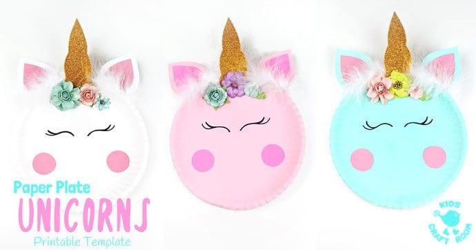 Simple Paper Plate Unicorn Craft - Kids Craft Room