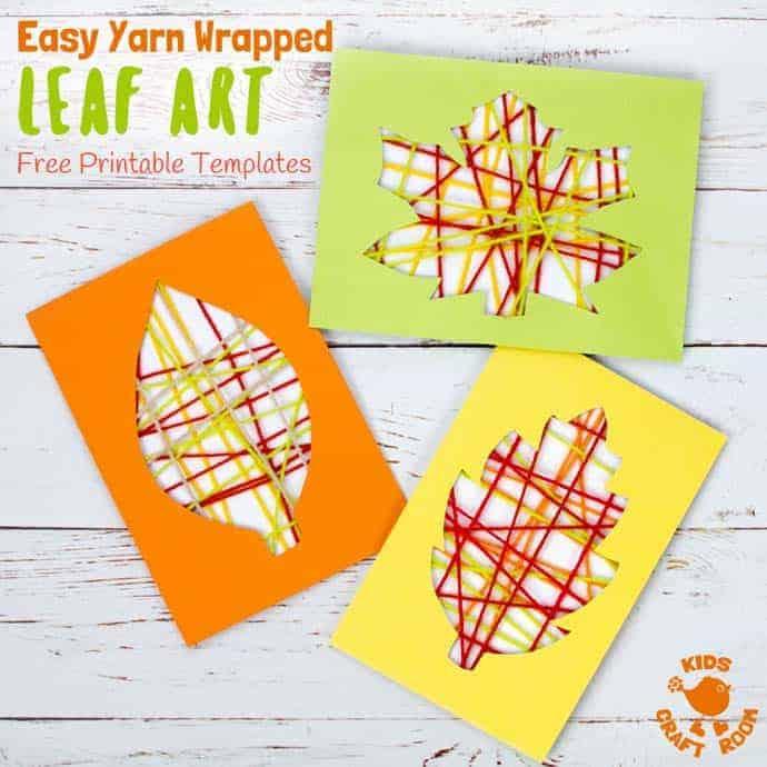 Printable Leaf Templates For Yarn Wrapped Leaf Art - Kids Craft Room