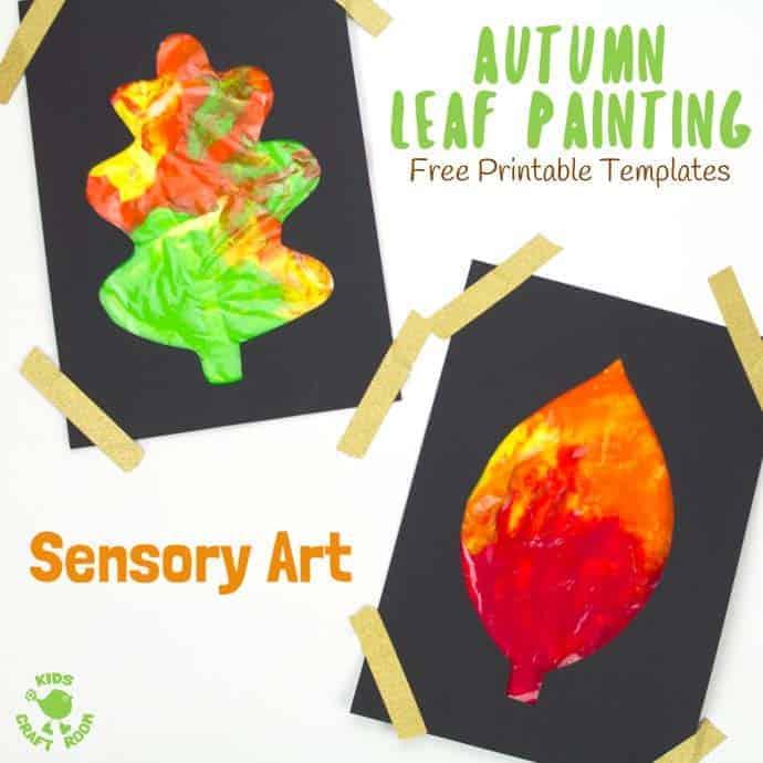 Large Printable Leaf Templates - Kids Craft Room