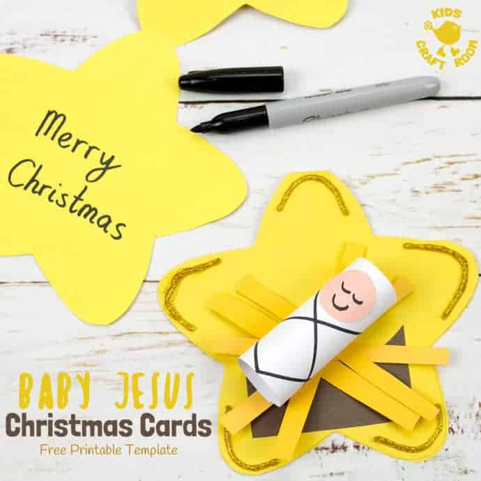Christmas Card Baby Jesus Craft - Kids Craft Room