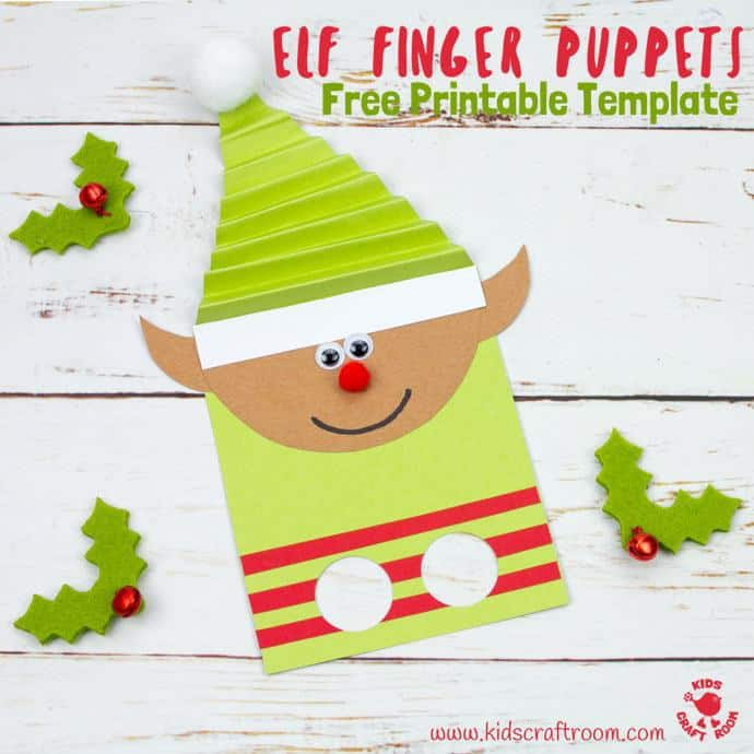 Free Printable Elf Finger Puppets Template - Kids Craft Room