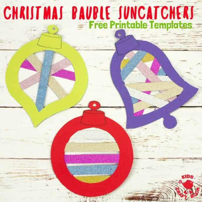 Free Printable Christmas Bauble Suncatcher Templates - Kids Craft Room
