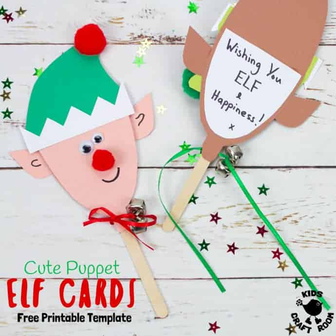 Free Printable Elf Card Template - Kids Craft Room