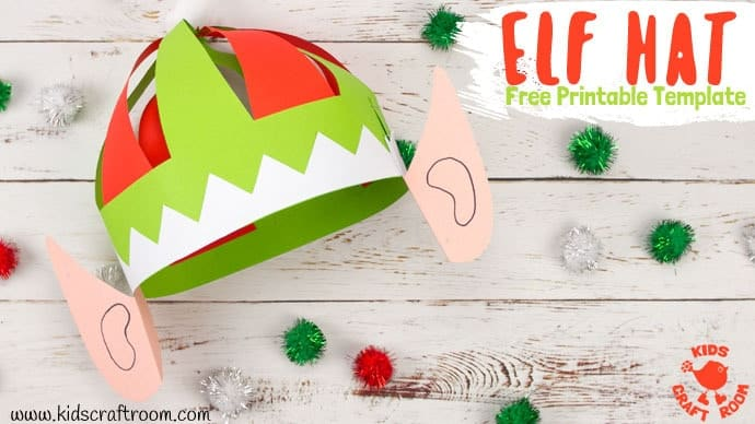 Cute Elf Hat Craft Printable - Kids Craft Room