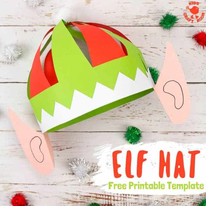 Free Printable Elf Hat Template - Kids Craft Room