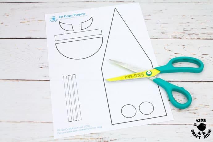 Free Printable Elf Finger Puppets Template - Kids Craft Room