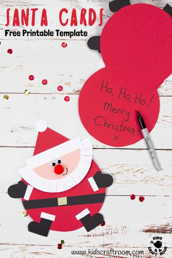 Santa Christmas Cards Craft - Kids Craft Room