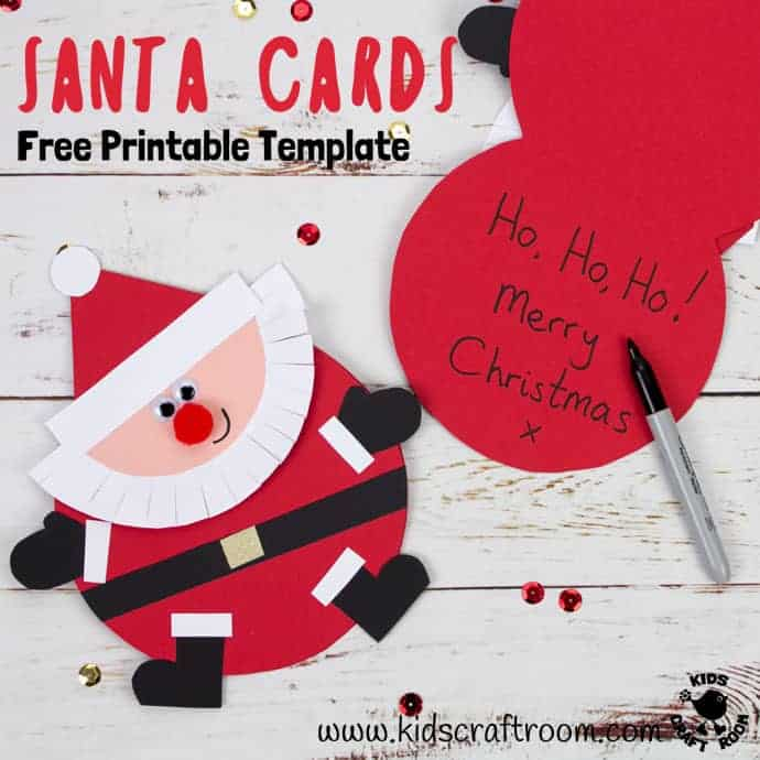Free Printable Santa Card Template - Kids Craft Room