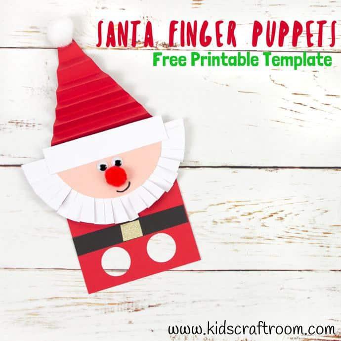 Free Printable Santa Finger Puppets Template - Kids Craft Room