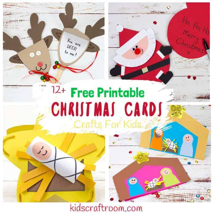 Printable Christmas Cards For Kids - Kids Craft Room