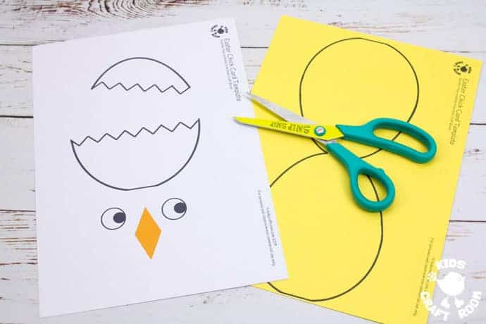 Hatching Chick Easter Card Craft - Kids Craft Room