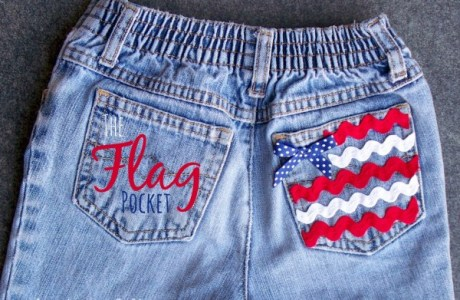 Adding  A USA Flag To A Pair Of Shorts