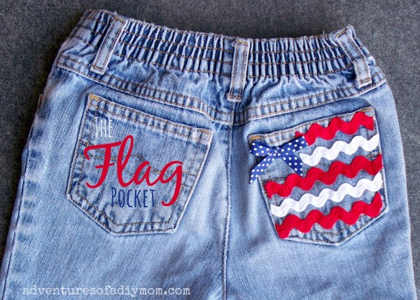 Flag pocket Jean Shorts 3