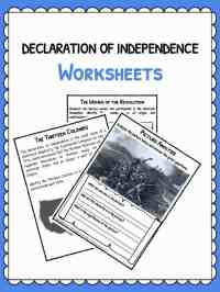 Declaration of Independence Facts & Worksheets | School ...