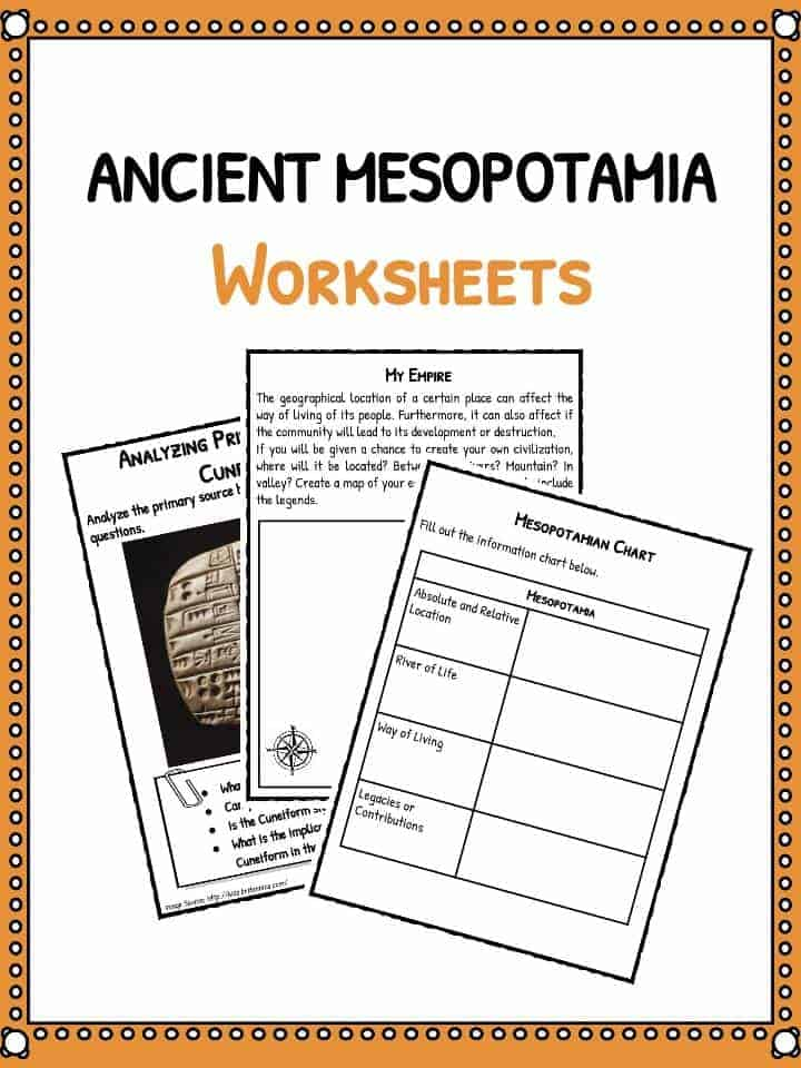 Ancient Mesopotamia Facts  Worksheets Teaching Resources