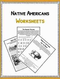Native American History Facts & Worksheets | PDF Lesson ...