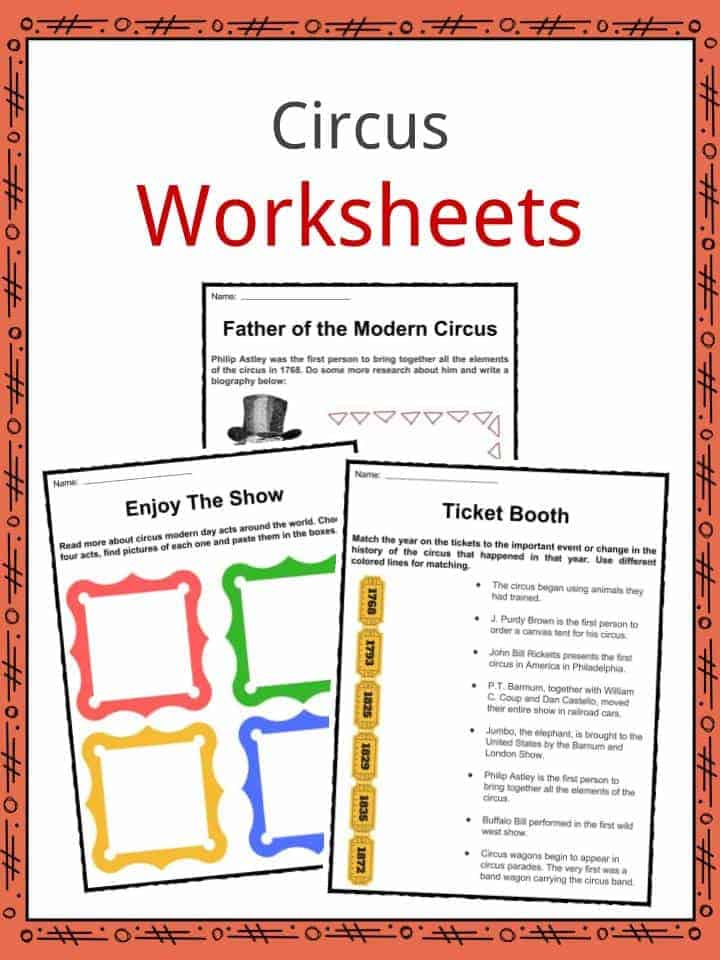 Circus Facts, Worksheets  Historic Information For Kids
