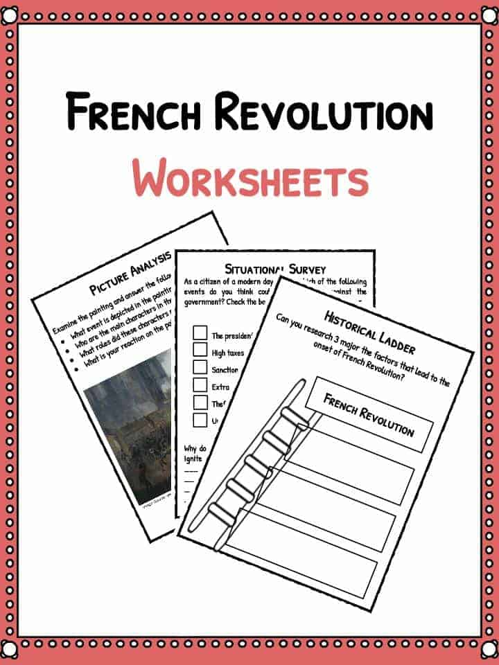French Revolution Facts, Information  Worksheets Lesson Plans
