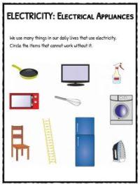 Electricity Worksheet Year 1 - Kidz Activities