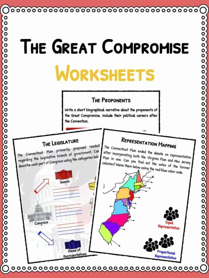 The Great Compromise (Connecticut Plan) Facts  Worksheets For Kids