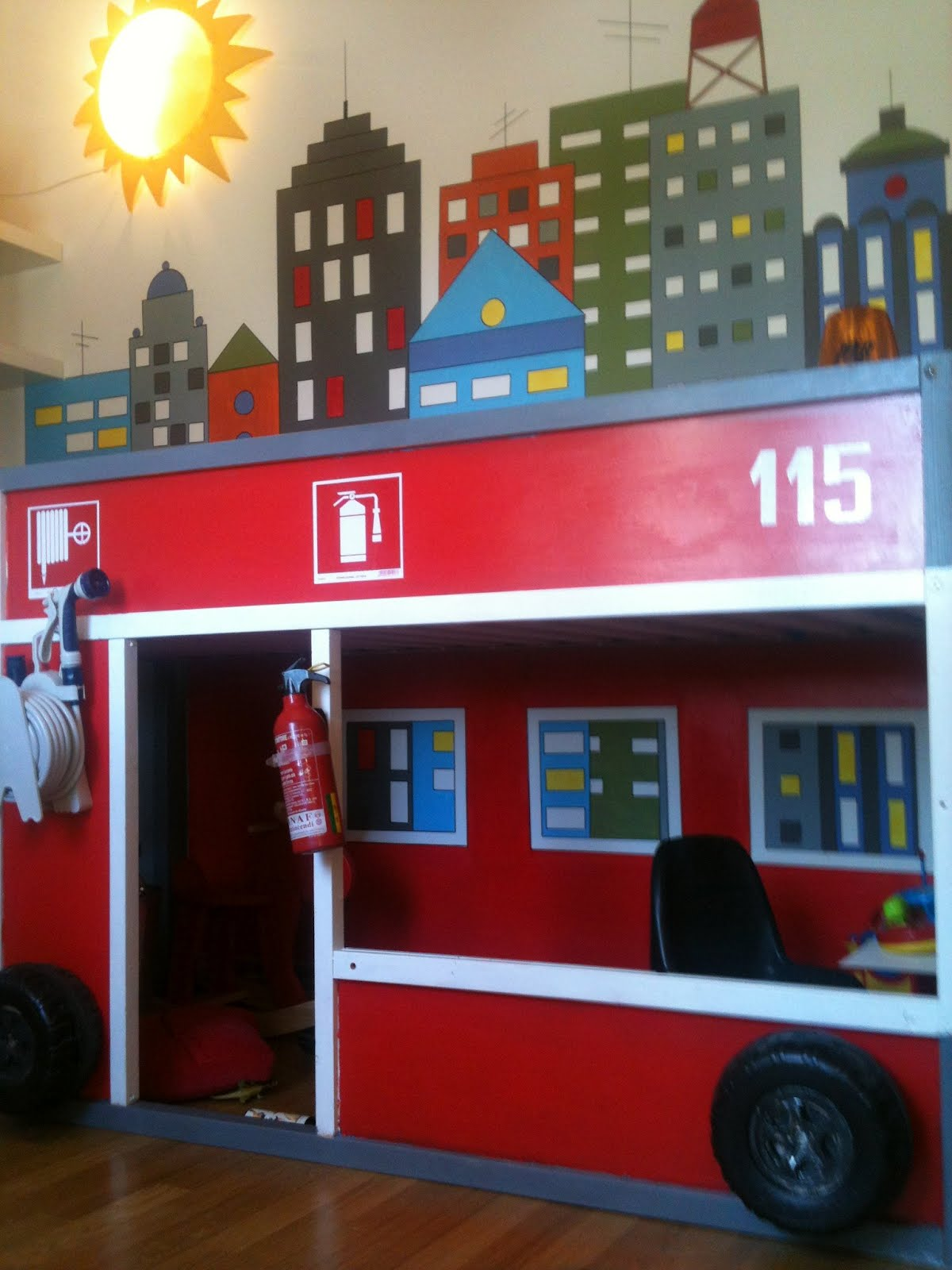 Amazing Bedroom Hacks How To Transform An Ikea Kura Bed Into A Firetruck