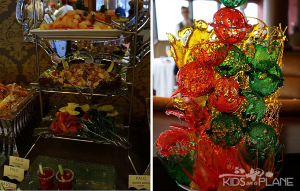Palo Champagne Brunch Review Disney Cruise Antipasti and Sugar Sculpture | KidsOnAPlane.com #disney #disneycruise #cruise #travel