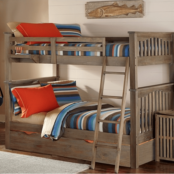 Baby Toddler And Town Kenwood Collection Full Over Full Bunk Bed In Driftwood