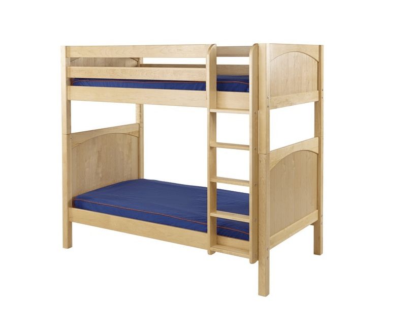 Max Panel Bunk Bed W Straight Ladder In Natural Kids