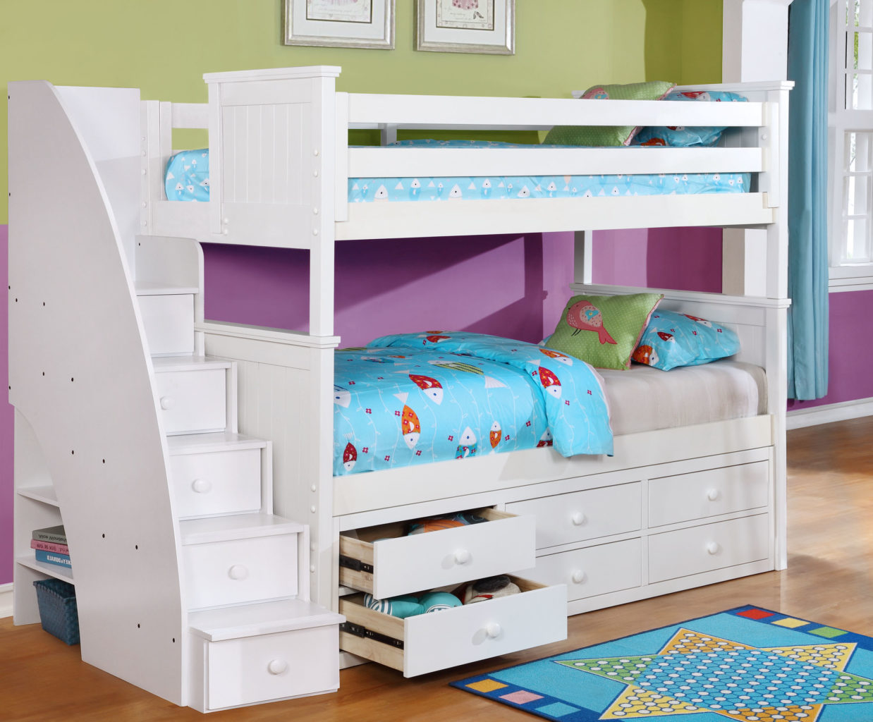 Baby Toddler And Town Beadboard Twin Over Twin Bunk Bed