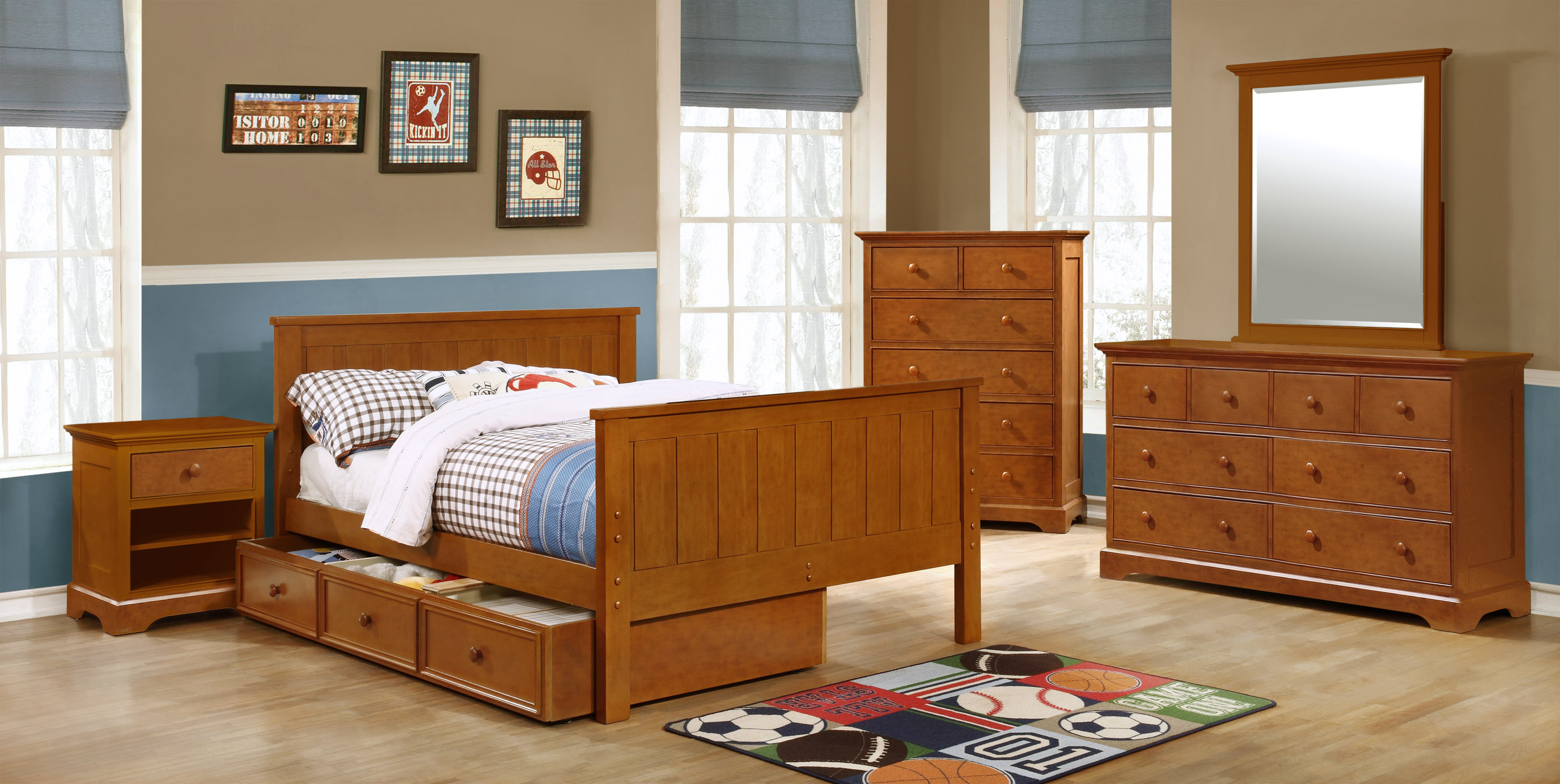 Jackson Full Size Panel Bed