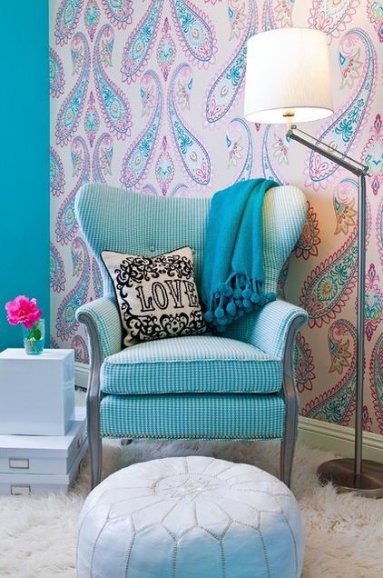 Teen Room Decor Using Paisley Patterns Kidspace Interiors - Sessel Jugendzimmer