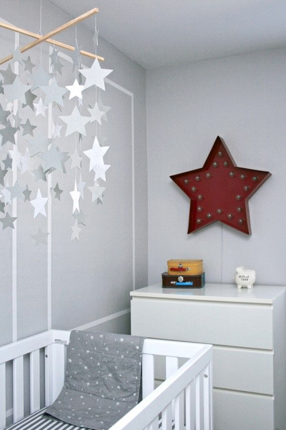 Bright Turquoise Wallpaper For Girls Room Trendy Star Studded Baby Nursery Kidspace Interiors