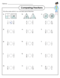 Comparing Fractions Activity 4th Grade - fraction ...