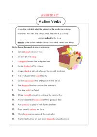 All Worksheets  Action Verb Worksheets - Printable ...