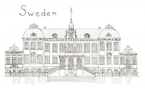Sweden Coloring Page Kidspressmagazinecom