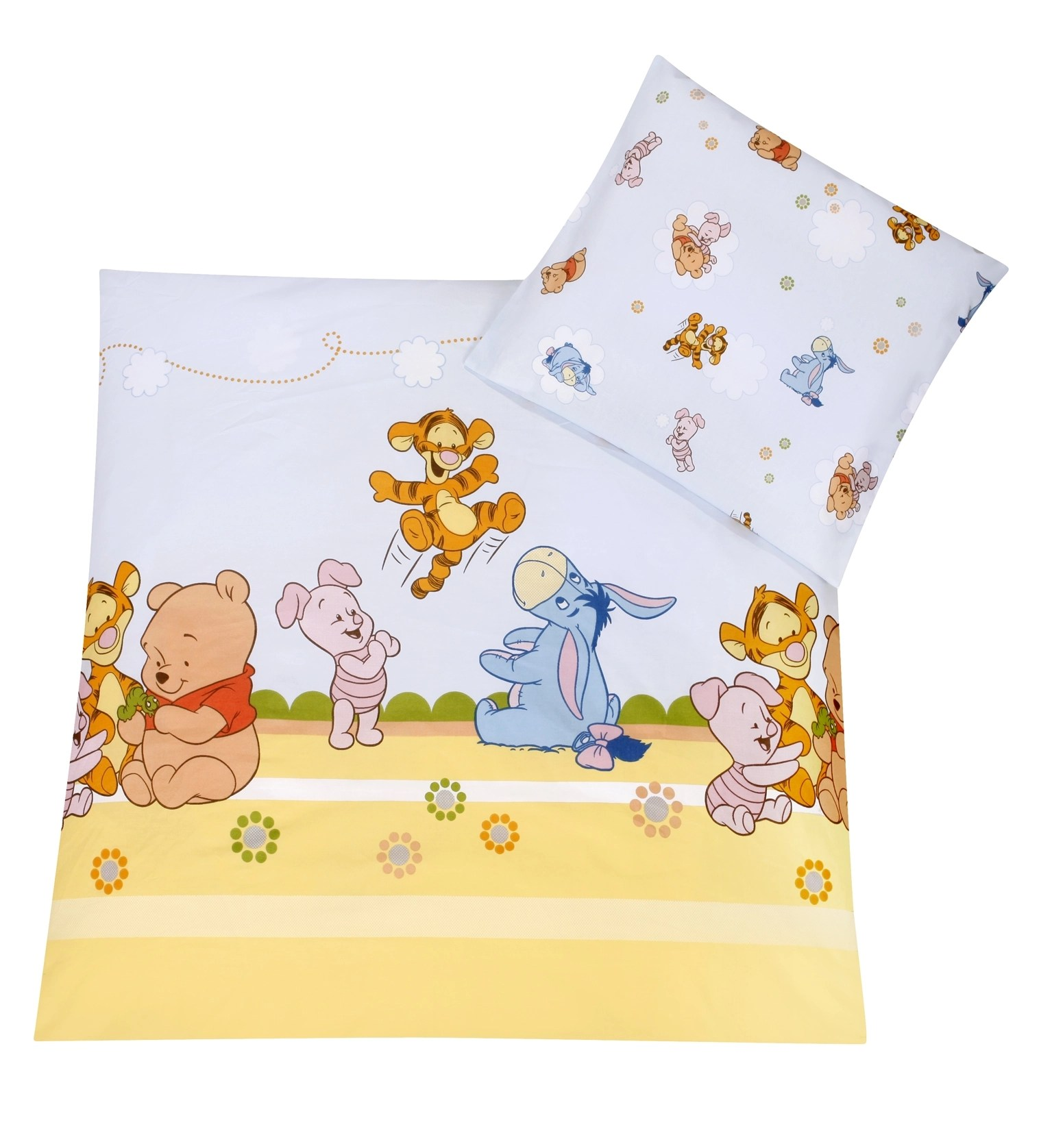 Baby Bettwäsche 80x80 35x40 Zöllner Disney Bettwäsche Baby Pooh And Friends 80x80 35x40 Cm