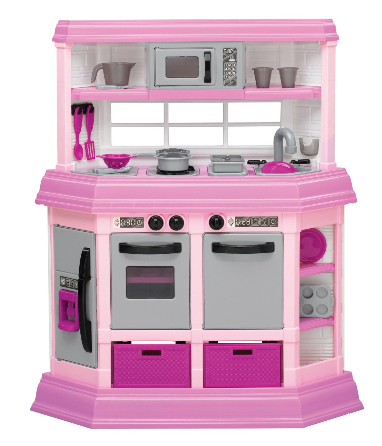 Childrens Toy Kitchen American Plastic Toy Deluxe Custom Kitchen Review