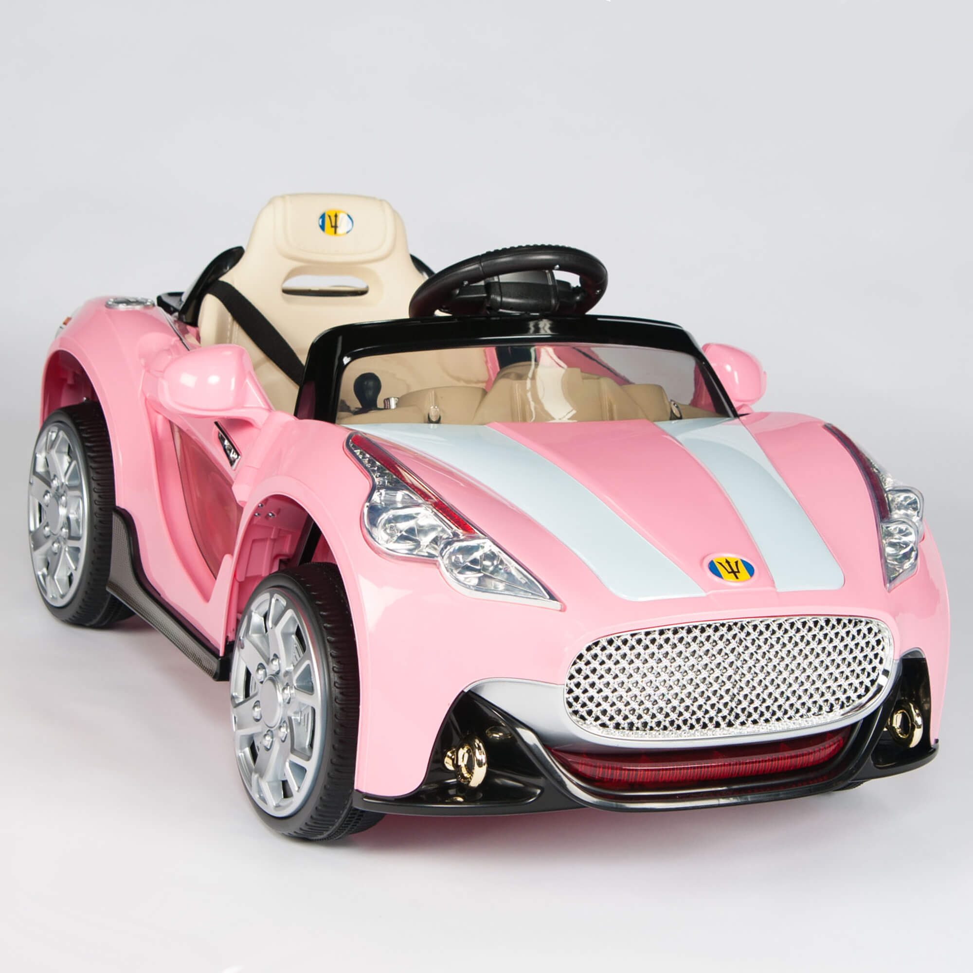 Buggy Mini Cabrio Kids Sport Edition 12v Maserati Style Ride On Car Pink