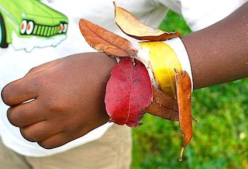 Collecting Leaves Nature Hike Craft- Kid World Citizen