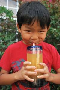 Drinking Taiwanese Boba Bubble Tea- Kid World Citizen