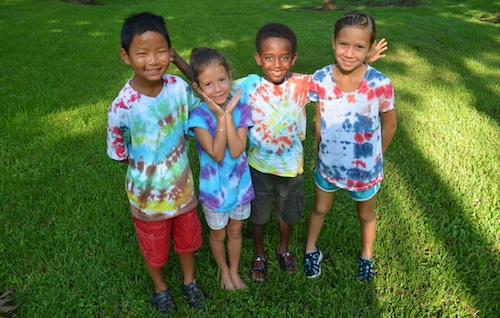 Tie Dye Kids Activity- Kid World Citizen
